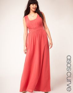 ASOS CURVE Exclusive Cheesecloth Maxi Dress