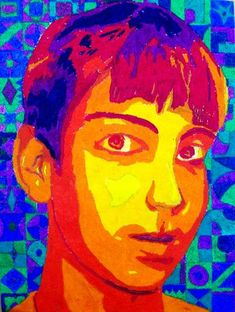 Posterized Portrait- Chuck Close. Must revisit this site... great examples and project inspiration!