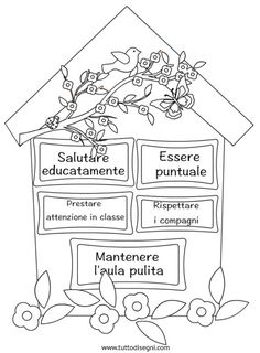 cartello-regole-classe Classroom Projects, Classroom Organization, Italian Grammar, Welcome Back To School, School Posters, Learning Italian, Montessori, Feelings And Emotions, Window Art