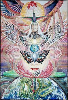 Sacred art By Heather Thomas. Prints, posters and cards available at www.Ecoartopia.org on Redbubble.com