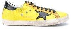 Golden Goose Deluxe Brand Men's Yellow Leather Sneakers.