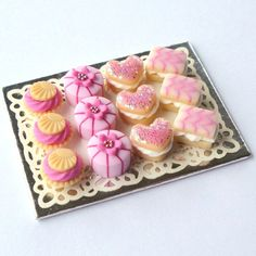 Polymer Clay Pretty Pink Cakes by MerciaMiniatures for $31.84