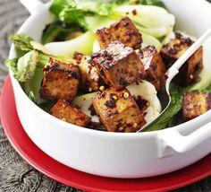 Ginger sweet tofu with pak choi