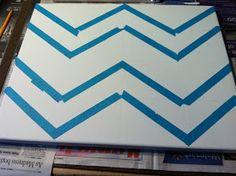 Classroom Classy: DIY Chevron Canvas with Monogram