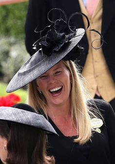 Autumn Phillips laughs in the parade ring on day 1 of Royal Ascot at. Autumn Phillips, Peter Phillips, Royal Family Pictures, Royal Ascot, Race Day, Derby Hats, British Royals, Zara, Riveting