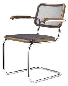 Thonet Stuhl S 64 N Pure Materials Freischwinger Mod Furniture, Furniture Design, Bauhaus, Iron Staircase, Grey Office, Clean Space, Chair Design, Modern Design, Armchair
