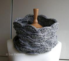 CROCHET PATTERN Crochet scarf pattern women men by LuzPatterns