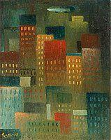 """GÖSTA ADRIAN-NILSSON, """"Skyskrapor"""". EST:100 000 - 125 000 SEK. Bukowskis. Barnebys.se"""
