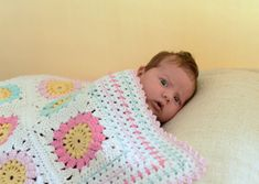 Granny square baby blanket pattern Cotton por KerryJayneDesigns