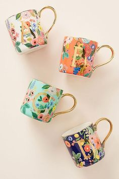 Rifle Paper Co. for Anthropologie Garden Party Monogram Mug Rifle Paper Co. for Anthropologie Garden Party Monogram Mug Anna Bond, Shopping Ikea, Mother Day Gifts, Gifts For Mom, 10e Anniversaire, Anthropologie Mugs, Rifle Paper Co, Autumn Home, Monogram Letters