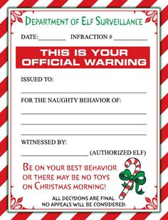 A Cute Christmas Elf Warning Letter and/or a Personalized Letter From Santa for the little ones in your life!
