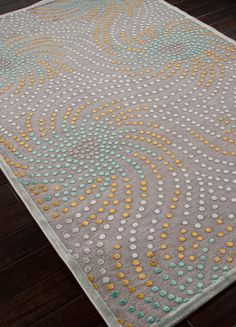 Echo I Contemporary Area Rugs Aqua And Brown Circles On Home Stuff Pinterest