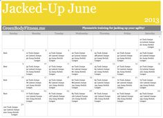 Jacked-up June 2013  3 plyometric exercises to get your heart rate going, work on agility, and strengthen fast twitch muscles. For beginners to intermediate. Check it it out PDF downloadable calendar. Plyometric Workout, Plyometrics, Workout Calendar, Fitness Calendar, Tuck Jumps, Summer Goals, Queen, I Work Out, Screen Shot