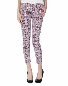 Gwenevere Ikat Cropped Jeans - Last Call by Neiman Marcus
