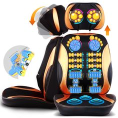 """HOT PRICES FROM ALI - Buy Electric back massager vibra Cervical malaxation massage device multifunctional pillow neck household full-body Massage chair"""" from category """"Beauty & Health"""" for only USD. Seat Altea Freetrack, Skoda Octavia Tour, Massage Corps, Shoulder Massage, Back Massager, Massage Roller, Muscle, Chair Pads, Cool Things To Buy"""