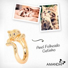 Aposte no anel de gatinho para sair da rotina! | Amandhí | www.amandhi.com |