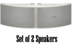 Yamaha All Weather Outdoor / Indoor Wall Mountable Natural Sound 180watt 2 way Acoustic Suspension Speakers - White - with 100ft 16 AWGSpeaker Wire - Compatible with All Audio / Video Home Theater SoundSystems, Components, CD Players, or Receivers - Also Designed for BookShelf or Desktop Use Big SALE