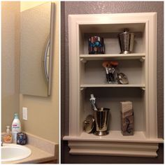 Medicine Cabinet Turned Open Shelving So Much Easier Than I Thought It Could Be