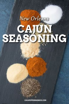 This homemade cajun seasoning is ready in minutes and perfect for every day cooking. Add some savory flavor to spice up fish, chicken, veggies and more. Spicy Chicken Recipes, Cajun Recipes, Cajun Seasoning Recipe, Etouffee Recipe, Boiled Peanuts, Creole Recipes, Spicy Chili, Spice Blends, Spice Things Up