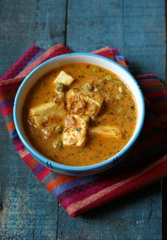 matar paneer - Cottage cheese and peas in an aromatic gravy