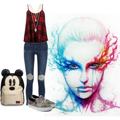 """fier vs ice"" by lorepunk on Polyvore"