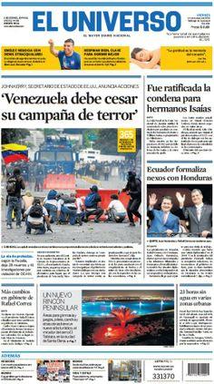 Portada de #DiarioELUNIVERSO del 14 de marzo del 2014. Las #noticias de #Ecuador y el mundo en: www.eluniverso.com