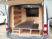 The false floor could be used for ladder, levels, cutting square and channel stock