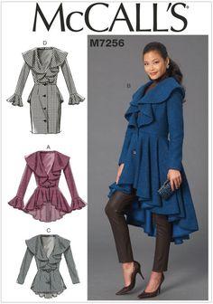 Misses Coats McCalls Sewing Pattern 7256