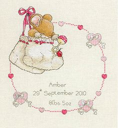 New Baby - Cross Stitch Kit Would be cute for someone (no one particular off hand)