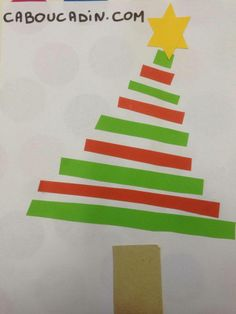 No l on pinterest noel bricolage and bricolage noel - Bricolage sapin de noel en papier ...