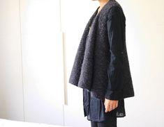 Knitting Pattern PDF: Dado drapy vest layering garment
