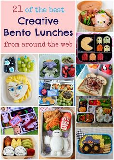 Massive round-up of creative bento lunch ideas and amazing bloggers - So many ideas for packing fun bento lunches here!