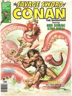 The Savage Sword of Conan the Barbarian. Vol. 1, No. 23. U.S. Comic. Oct. 1977.
