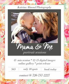 |mama & me| 45 min portrait sessions $65 #coloradophotographer #coloradosprings # photography #portrait photography #lifestylephotgrapher #seniorphotography #familyphotography #minisessions #newborns #childphotography www.kalmondphotography.com