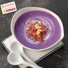 Se non avete mai provato le patate viola, fatelo con questa ricetta: una gustosa zuppa con bresaola e nocciole... che acquolina! Clicca sulla foto per la preparazione! :) Da Conad Bene Insieme