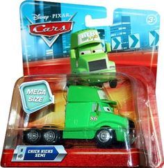 MEGA SIZE CHICKS HICKS SEMI #8 Disney / Pixar CARS 1:55 Scale Vehicle? by Mattel. $9.99. 1:55 Scale Vehicle. Ages 3+. Cars 1:55 Mega Size Vehicle: Inspired by the hit Disney/Pixar movie Cars. Classic character from the movie in 1:55 scale. Kids can build out their entire die-cast world! Ages 3 and over.