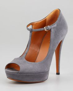 too high, need to allow for bunion, need support and comfort - Betty Platform T-Strap Pump by Gucci at Neiman Marcus.