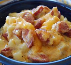 Cheese, Potato, Smoked Sausage Casserole
