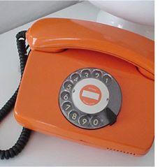 Orange Rotary Phone ~ GOLD NOTES: Color Notes: Orange Crush