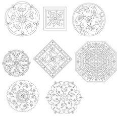 Mandala Embroidery Patterns. $3.00, via Etsy.
