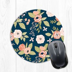 Dont know about you - but I love details like cute mousepads to make my workspace fun!  This floral mousepad is 8 inches wide, features a stain
