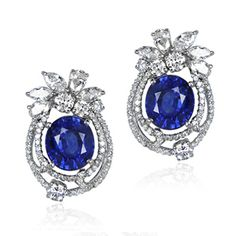 Blue River Sapphire and Diamond Earrings                                                                                                                                                      More