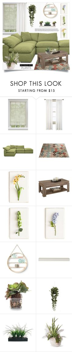 """Decorate w/plants"" by tawnee-tnt ❤ liked on Polyvore featuring interior, interiors, interior design, home, home decor, interior decorating, Royal Velvet, Joybird, Tommy Mitchell and ACME"