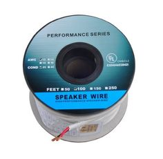 C 100 Feet 12AWG CL2 Rated 2-Conductor Loud Speaker Cable (For In-Wall Installation) by C $42.00. 100 Feet 12AWG CL2 Rated 2-Conductor Loud Speaker Cable (For In-Wall Installation) Overview Get the most out of your home audio system with high quality, oxygen-free copper speaker wire from Cables & Etc This wire features two conductors made of high purity (greater than 99.95% pure), oxygen-free copper. Each conductor is jacketed with color-coded PVC for easy...