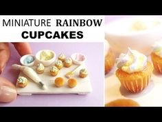Miniature Polymer Clay Cupcake Decorating Scene Tutorial || Maive Ferrando - YouTube