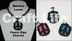 Craft Life Rainbow Loom Peace Sign Charm Tutorial