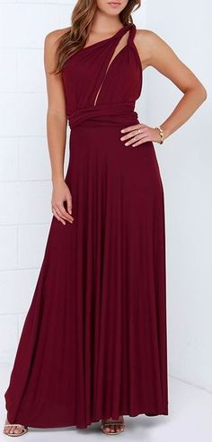 30535a7c00d Tricks of the Trade Burgundy Maxi Dress. Long Bridesmaid DressesLong Summer  ...