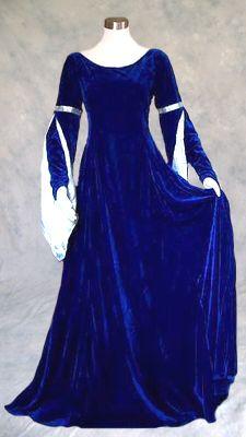 Royal blue velvet lace up medieval amp renaissance gown artemisia