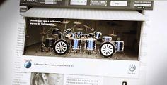 Aprende a tocar la batería con el banner de Volkswagen y Rock in Río