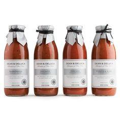 Dean & Deluca Italian Sauces  #packaging #label #black&white